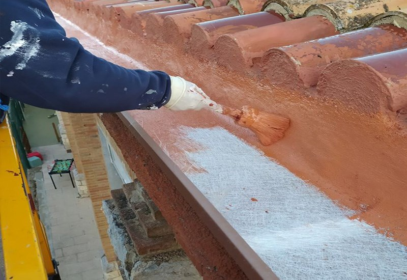 rehabilitación de cubiertas canalones en Reus