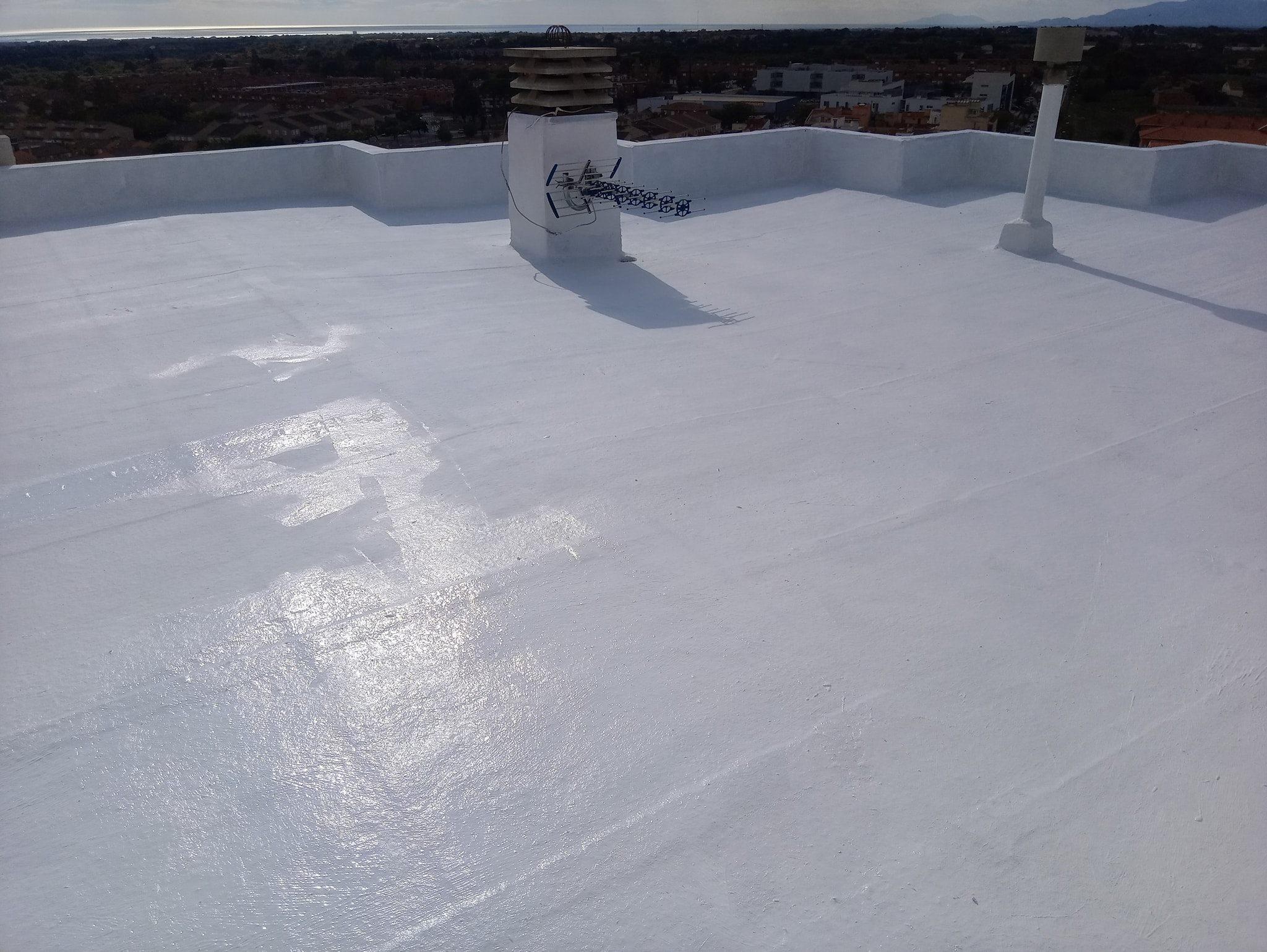 impermeabilización de terraza en Salou  blanco