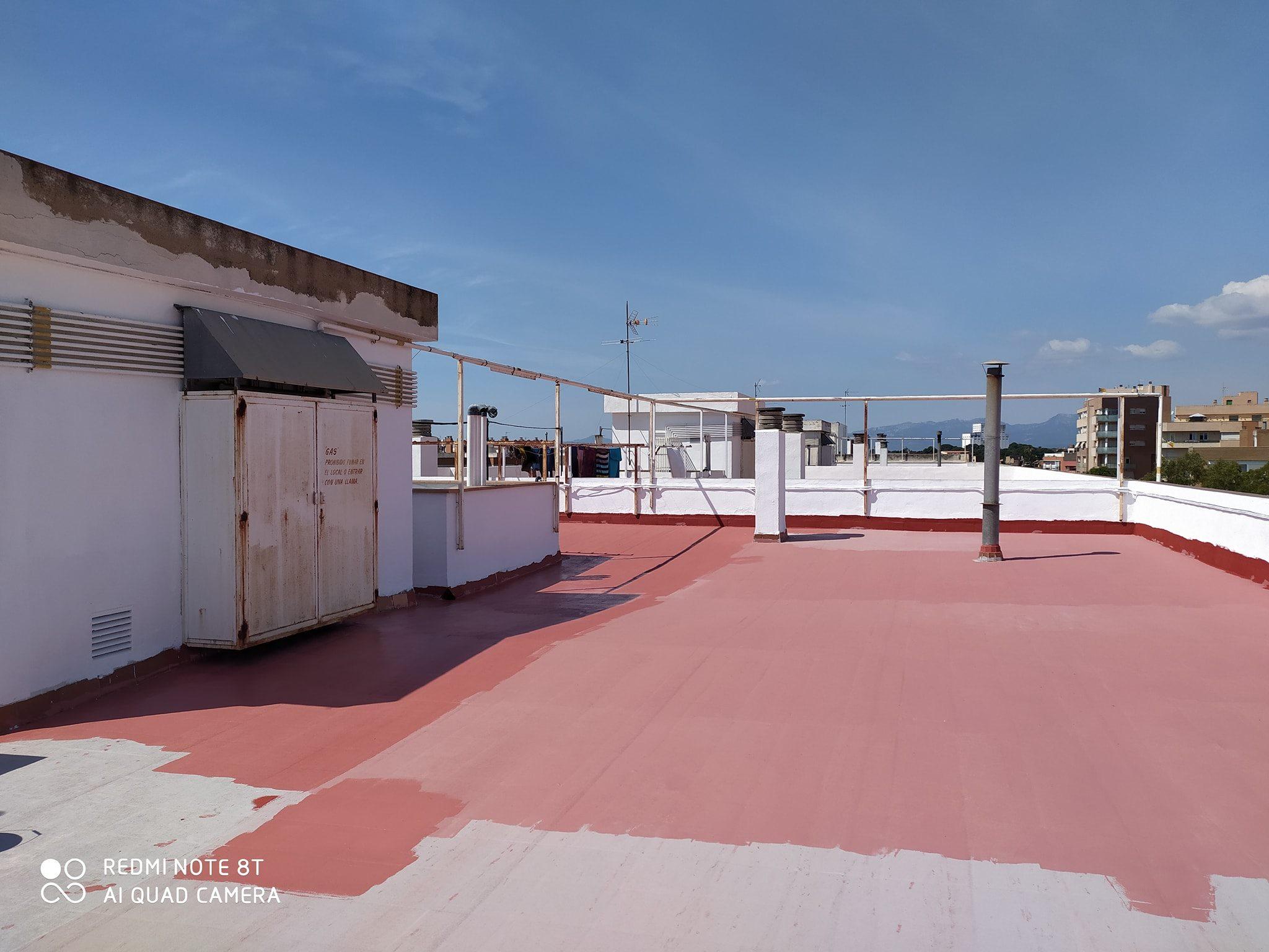impermeabilización de terraza en Reus  blanco